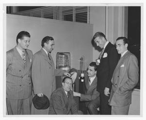 Primary view of object titled '[Stan Kenton and company at the Schirmer opening]'.