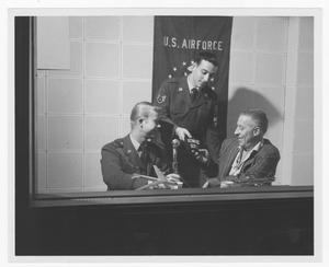 Primary view of object titled '[Stan Kenton with members of the U.S. Air Force]'.