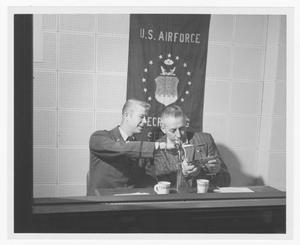 Primary view of object titled '[Stan Kenton and Lt. Dean Sanders of the U.S. Air Force]'.