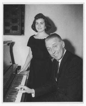 Primary view of object titled '[Stan Kenton and unidentified woman]'.