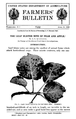 Primary view of object titled 'The Leaf Blister Mite of Pear and Apple'.