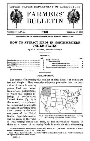 Primary view of object titled 'How to Attract Birds in Northwestern United States'.