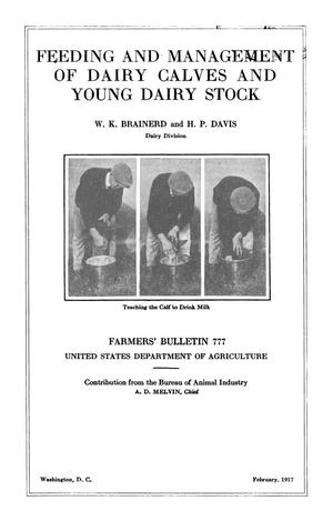 Primary view of object titled 'Feeding and Management of Dairy Calves and Young Dairy Stock'.