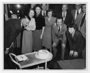 Primary view of object titled '[Kenton celebrating his 40th birthday]'.
