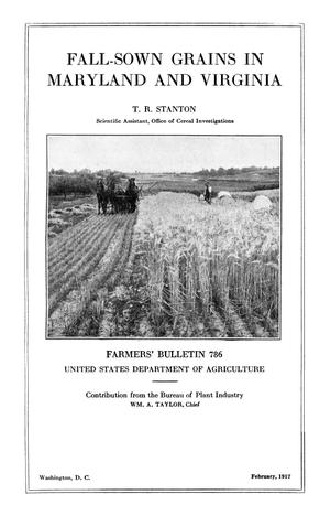 Primary view of object titled 'Fall-Sown Grains in Maryland and Virginia'.