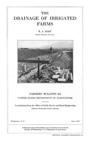 Primary view of The Drainage of Irrigated Farms