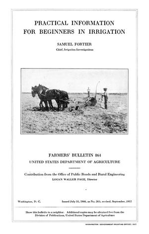 Primary view of Practical Information for Beginners in Irrigation