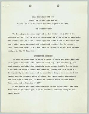 Primary view of object titled '[QC-13 Report 1980]'.