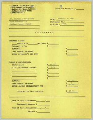 Primary view of object titled '[Receipt of legal services from the Law Office of Donald J. Maison Jr.]'.
