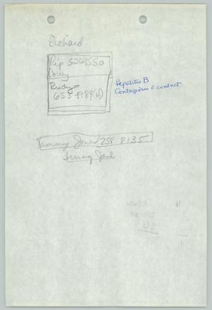 Primary view of object titled '[Handwritten notes: Contact information of various persons]'.