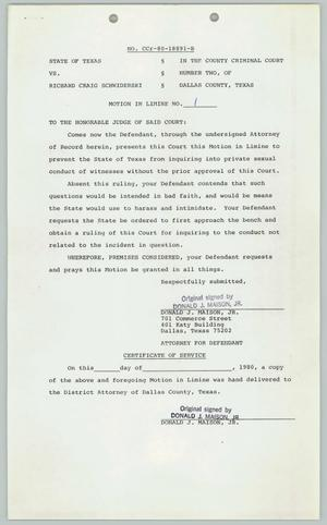 Primary view of object titled '[Certificate of Service: State of Texas v. Richard Craig Schwiderski]'.