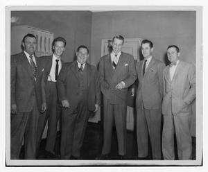 Primary view of object titled '[Kenton with group of men]'.