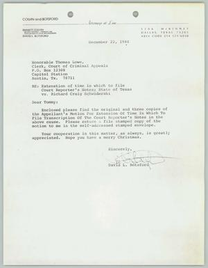 Primary view of object titled '[Letter: With extended affidavit of Sharon L. Cox]'.
