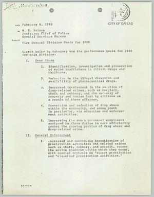 Primary view of object titled '[Fax: Vice Control Division Goals for 1980]'.