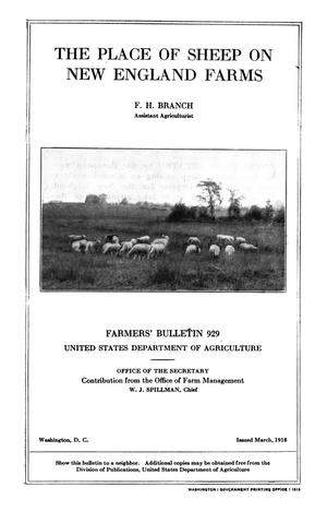 Primary view of object titled 'The Place of Sheep on New England Farms'.