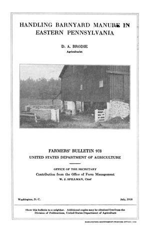 Primary view of object titled 'Handling Barnyard Manure in Eastern Pennsylvania'.