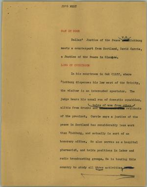 Primary view of object titled '[News Script: JP's meet]'.