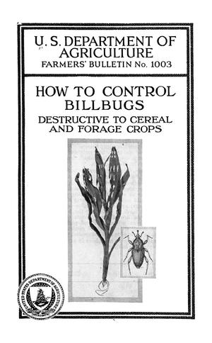 Primary view of object titled 'How to Control Billbugs Destructive to Cereal and Forage Crops'.