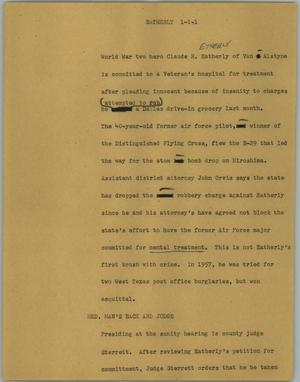 Primary view of object titled '[News Script: Earthly]'.