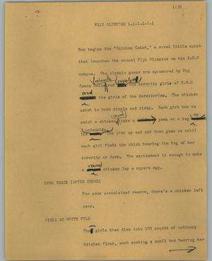 Primary view of object titled '[News Script: Fiji Olympics]'.