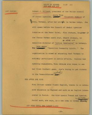 Primary view of object titled '[News Script: Kraut do gooder]'.
