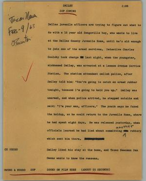 Primary view of object titled '[News Script: Smiley]'.