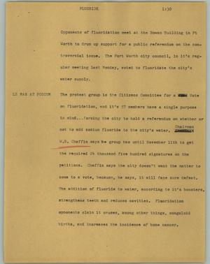 Primary view of object titled '[News Script: Fluoride]'.