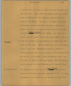 Primary view of object titled '[News Script: Ridglea golf]'.