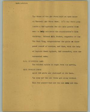 Primary view of object titled '[News Script: WAFS]'.