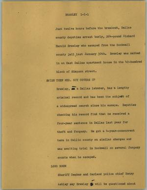 Primary view of object titled '[News Script: Brawley]'.