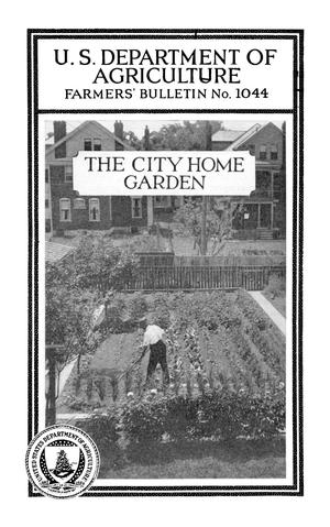 Primary view of object titled 'The City Home Garden'.