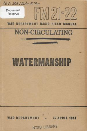 Primary view of object titled 'Watermanship'.