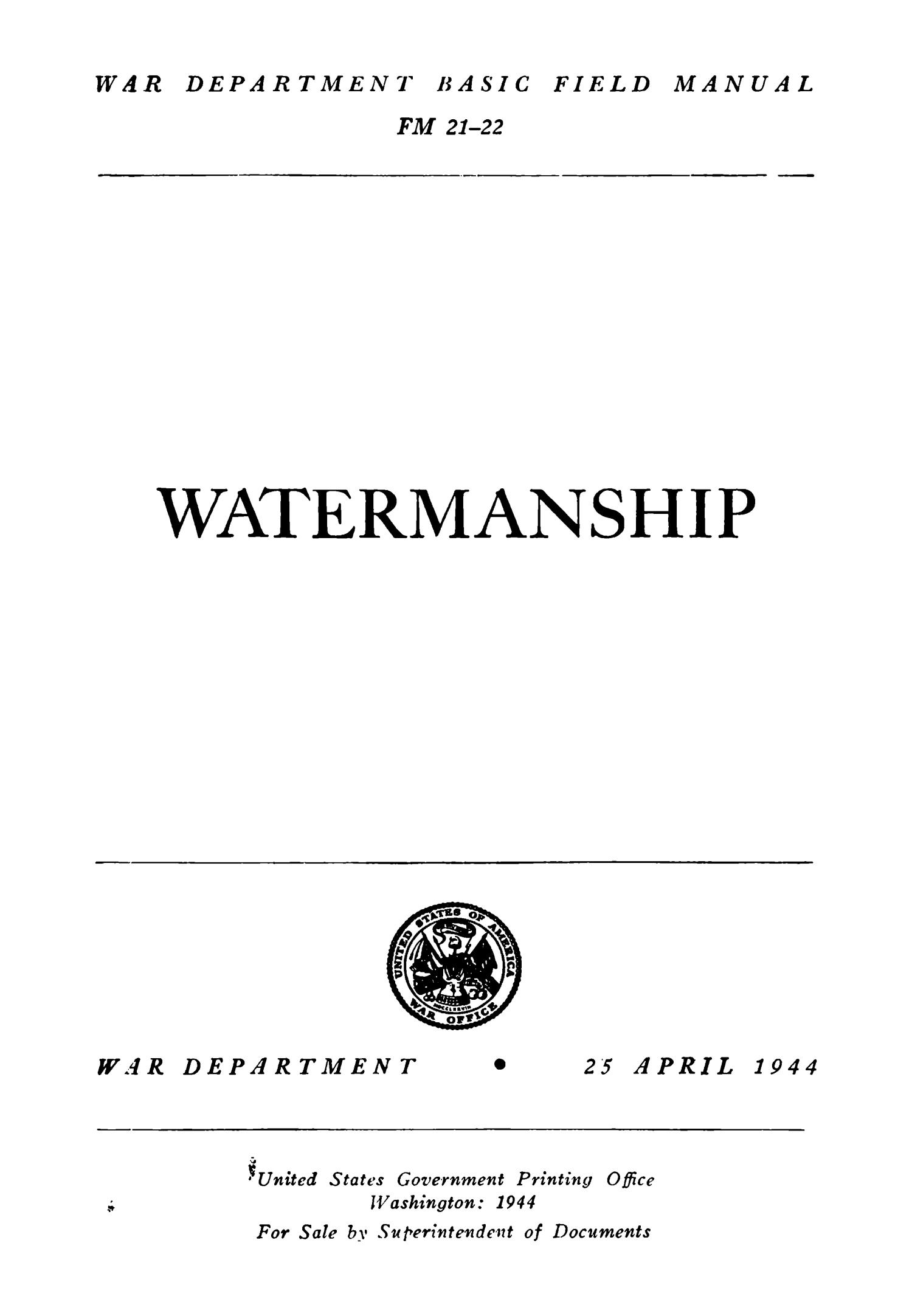 Watermanship                                                                                                      Title Page