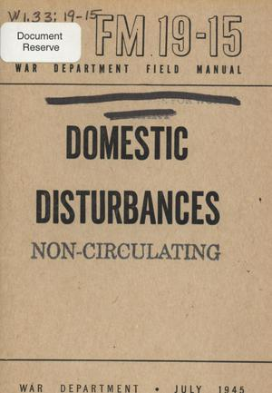 Primary view of object titled 'Domestic disturbances'.