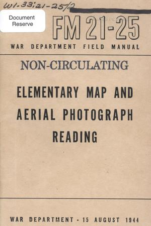 Primary view of object titled 'Elementary map and aerial photograph reading'.