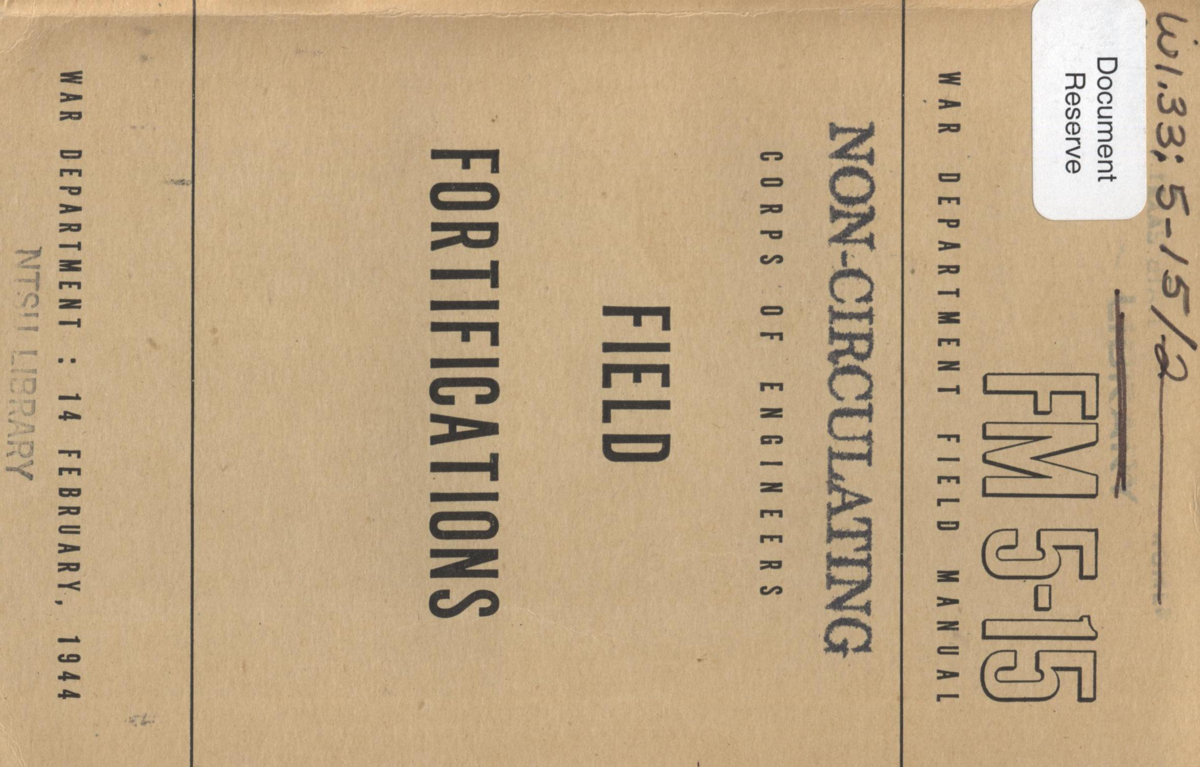 Field fortifications                                                                                                      Front Cover