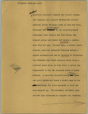 Primary view of object titled '[News Script: Attempted burglary]'.