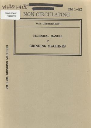 Primary view of object titled 'Grinding machines'.