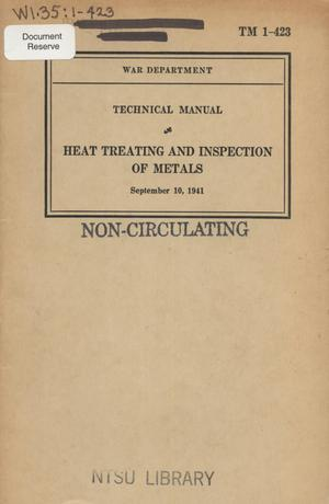 Primary view of object titled 'Heat treating and inspection of metals'.