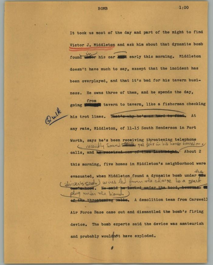 News Script: Bomb] - Digital Library