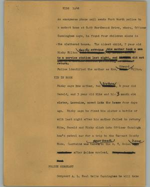 Primary view of object titled '[News Script: Kids]'.