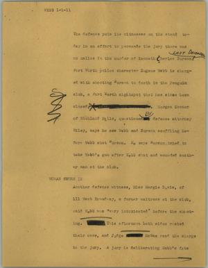 Primary view of object titled '[News Script: Webb]'.