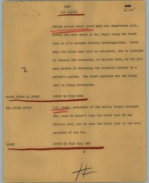 Primary view of object titled '[News Script: Test]'.