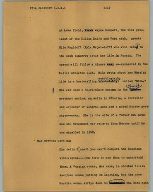 Primary view of object titled '[News Script: Walkers]'.