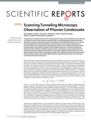 Scanning Tunneling Microscopy Observation of Phonon Condensate
