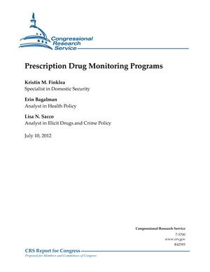 Prescription Drug Monitoring Programs