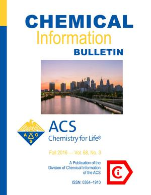 Primary view of object titled 'Chemical Information Bulletin, Volume 68, Number 3, Fall 2016'.