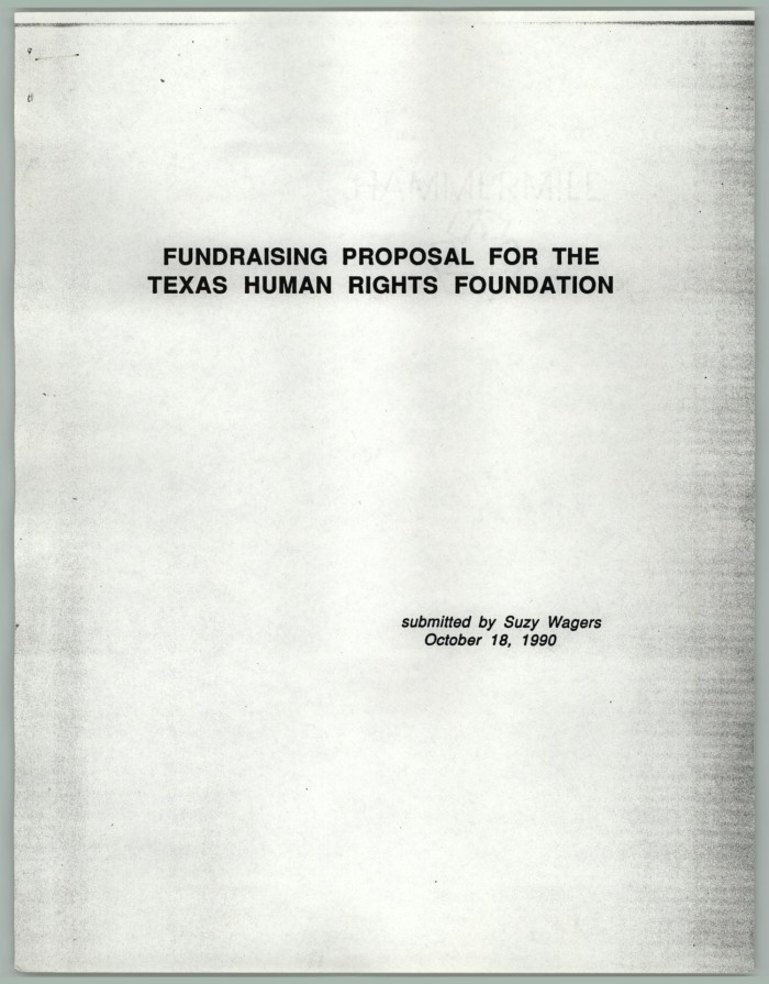 fundraising proposal for the texas human rights foundation digital