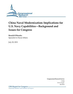 China Naval Modernization: Implications for U.S. Navy Capabilities—Background and Issues for Congress