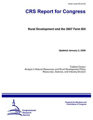 Rural Development and the 2007 Farm Bill
